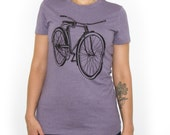 Women's Bicycle T-shirt Heather Purple