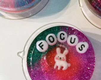 MADE TO ORDER: Weird Bathroom Decor - Focus, Art to Hang in Your Shower, Focus on Your Goal