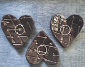 Heart dish - ring dish ring holder - ceramic heart with arrows - modern pottery