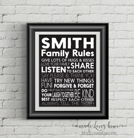 Personalized Family Rules, Digital Family Rules