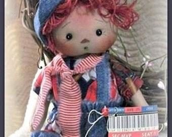 Hemp Spun Doll Hair Hand Dyed Vintage Red