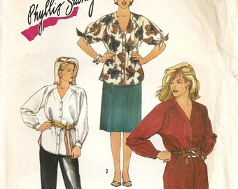 Simplicity 6677 Misses Dress, Tunic, Pants, Skirt Phyllis Sidney Vintage Sewing Pattern Size 18 Bust 40