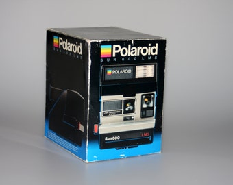 Polaroid Sun 600 LMS Instant Camera Complete in Box Tested & Working