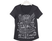 Tree of Life T-Shirt, Coal Cotton