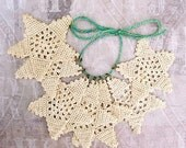 Rustic crochet star,  farmhouse Christmas tree ornament, card-making, papercrafts, gifts for her