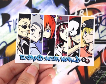 TWEWY Expand Your World - Waterproof Vinyl Sticker