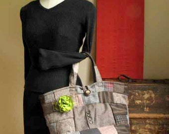 Free Shipping *** Patchwork Market Tote  ***  Build Your Own Bag