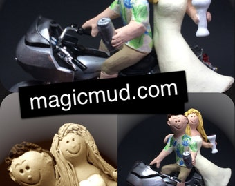 Harley Davidson Groom Wedding Cake Topper - Custom Made Motorcycle Wedding Cake Topper - Wedding Cake Topper for Harley Bikers