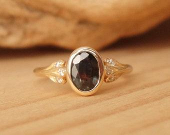 Colour Change Sapphire Petal Ring