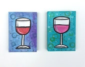 Wine Art - Wine Glasses A...