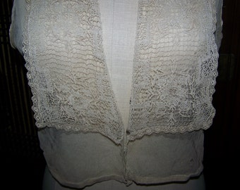 VINTAGE Net With Net lace Trim Bodice Boudoir Millinery Burlesque Costume