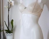 "SAMPLE SALE (save 10%) MIRANDA - ""Lace Bralet"" - sexy sheer ivory lace - soft cup bra - size 80/95 cm 36B / 80B"