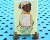 Cute Coffee Cup Pug Magnet, Quirky Gifts, Coffee Lovers Gift, Gifts for Dog Lovers, Dog Lover Gift,Pug Gifts Dog Refrigerator Fridge Magnets