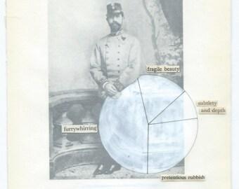 Vintage portrait photography piechart poem | Original fine art collage on paper