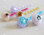 Bobby Pins , Hair Clips , Fused Glass Bobby Clips , Hair Accessories , Handmade Bobby Pin