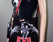 Evil Dead Ash Red Tartan Tote Bag Horror Movie