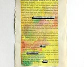 Blackout Poetry (all this light and color) Original Artwork & Poem