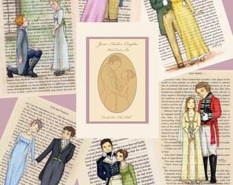Jane Austen Couples Postcards - Set of 12