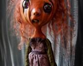 Loopy Creepy Cute Gothic Art Doll Dark Goth Pouty Pumpkin Spice