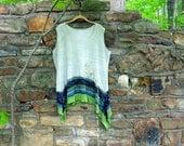 FREE U.S. SHIPPING ~Size 2X ~ Woodland Fern Blouse ~ tunic ~ top ~ gypsy / lagenlook/ boho chic / wearable art ~ by mia baggali ~