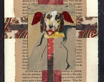 Pet Sympathy Card Dog Interior of a Heart