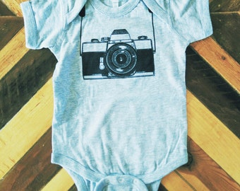 Camera ) Onesie ) Heather Grey