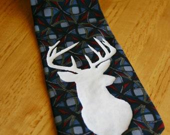 Buck Necktie - Blue & Grey