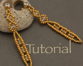 Seed bead and Crystal Earring Tutorial Icicle