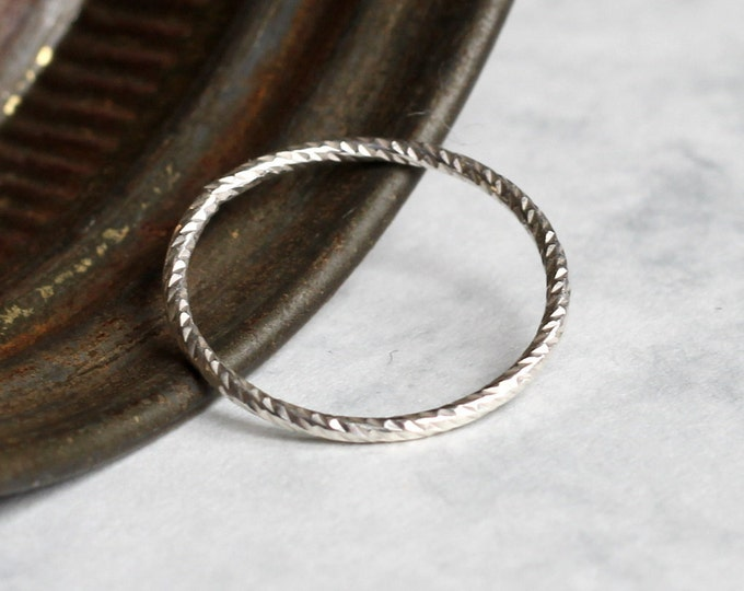 Twist Stacking Ring - Sterling Silver