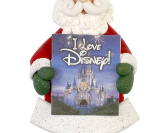 Santa Loves Disney Ornament