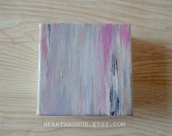 4x4 GRAY PINK BLACK abstract canvas