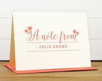 Personalized Stationery Set / Personalized Stationary Set - DELIGHT Custom Personalized Note Card Set - Feminine Flower Bridesmaid