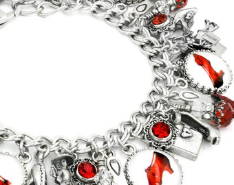 Personalized Theme Bracelet, build your own custom charm bracelet, choose your own charms, crystals, and images