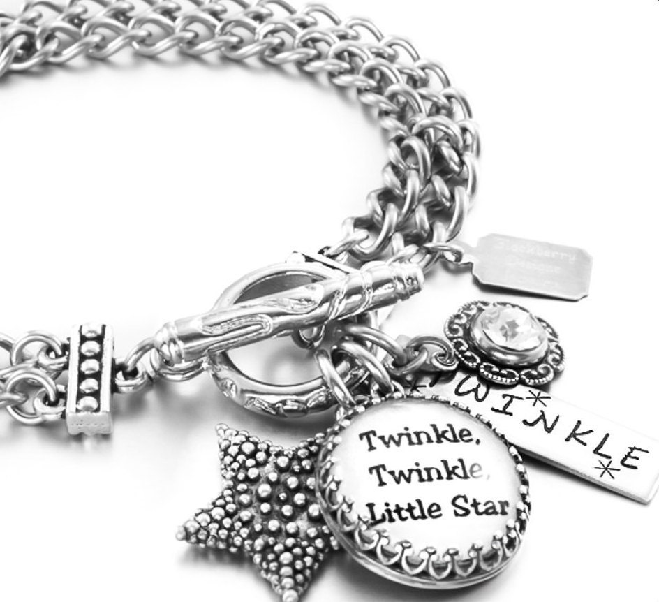 Inspirational Charm Bracelets: Silver Charm Bracelet Inspirational Jewelry By