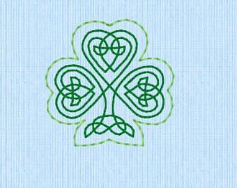 Celtic Shamrock Feltie machine embroidery design