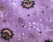 Boo Crow Fabric Purple white black Halloween Yardage Quilting Cotton Sewing Supplies