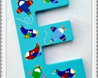 Playroom Letters, Play, Dream, Read, Wooden Letters, Wall Decor, Painted Wooden Words, Inspirational Letters, Air Plane, Priced Per Letter
