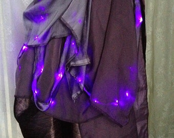 Ultra high quality LED tutu skirt - purple bustle tutu skirt - steampunk burlesque bustle - Burning Man costume bustle - no size