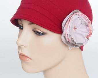 Womens Cancer Hat Women Alopecia Hat Chemo Headwear Women Lupus Hat Leukemia Chemotherapy Beanie with Flower Hat for Women with Hair Loss
