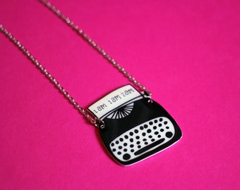 Sylvia Plath Typewriter Necklace