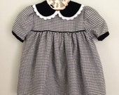 Vintage Black and White  Houndstooth Dress Size 12 months