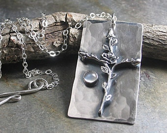 Cross Pendant rose cross christian jewelry religious jewelry sterling silver moonstone - Sacred Rose