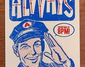 Alvvays Silk Screened Handbill