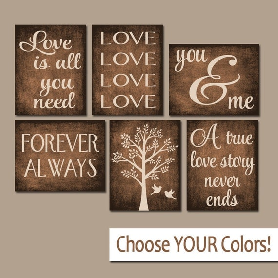 Forever family wall decor tree : Family wall art canvas or prints custom love story quotes