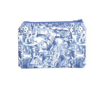 Alice in Wonderland Storybook Makeup Bag / Camera Bag / Zipper Pouch in John Tenniel Illustrations