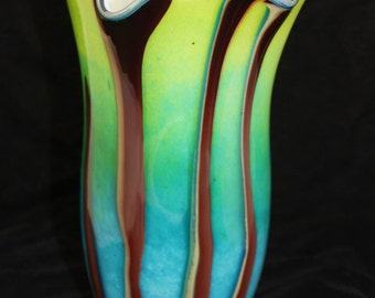 Beautiful Hand Blown Glass Vase Home Decoration