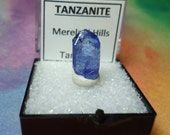 Sale TANZANITE Natural Terminated Perkwinkle Blue Crystal In Perky Mineral Specimen Box From Tanzania
