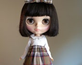 OOAK you know you're right dress and bow set for blythe dolls