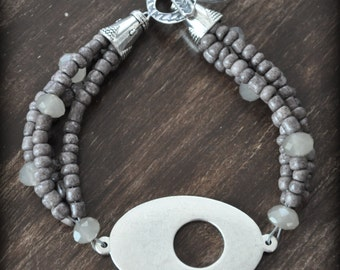 Just A Few Shades of Gray Bracelet