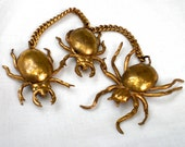 Vintage Spider & Beetle Brooch Scatter Pin Entomology Jewelry Spooky Bug Brooch